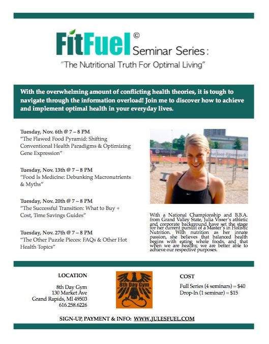"""FitFuel Seminar Series: The Nutritional Truth for Optimal Living"""