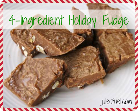 4-Ingredient Healthy Holiday Fudge