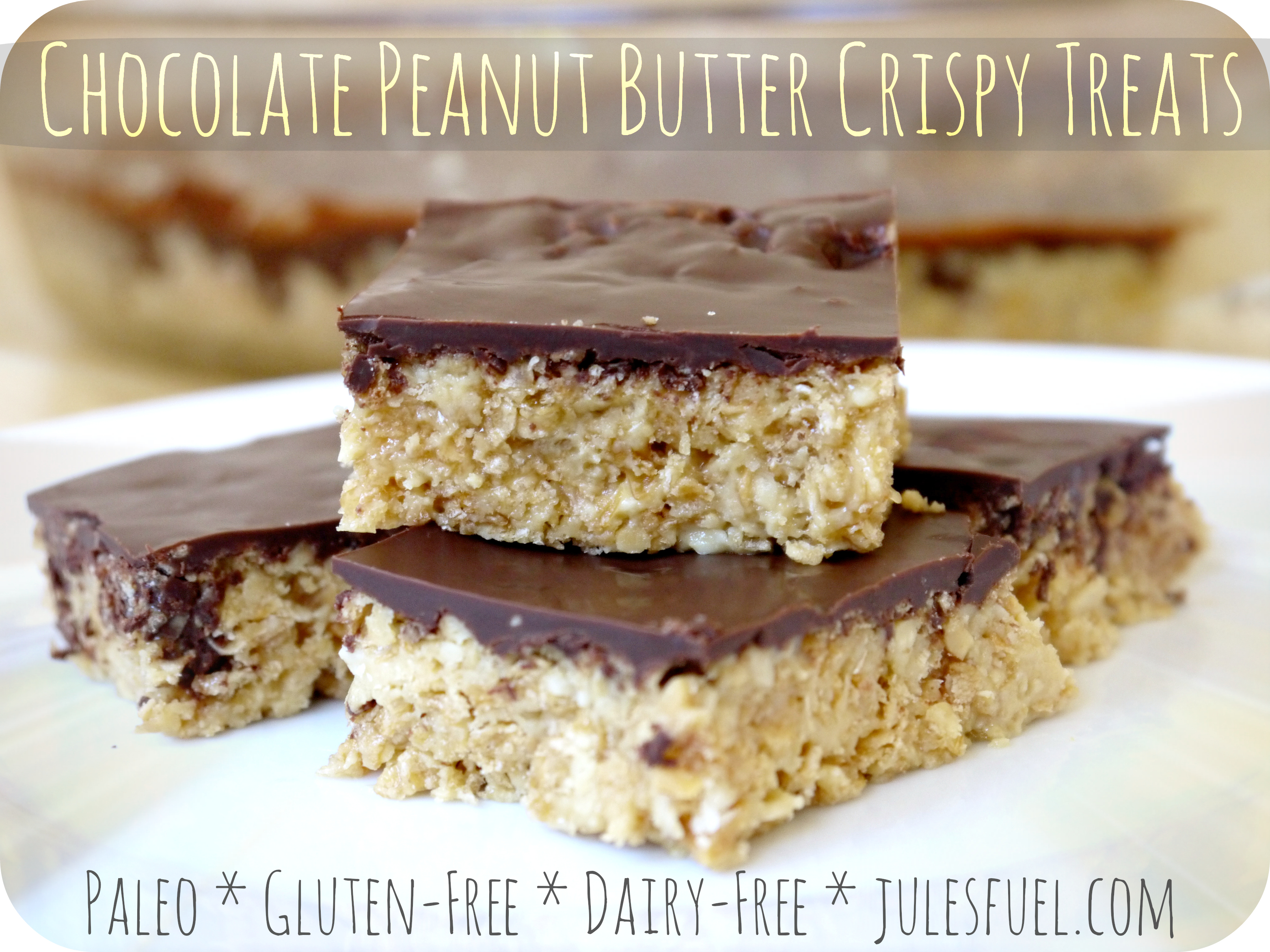 Choc PB Crispy Treats