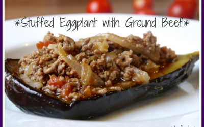 Simple Stuffed Eggplant (Dairy & Gluten Free)