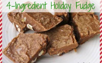 4-Ingredient Healthy Holiday Fudge