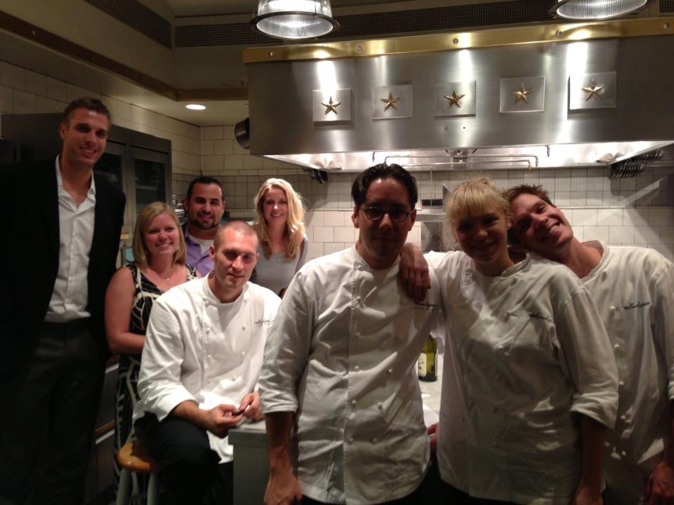 A quick photo with French Laundry staff!
