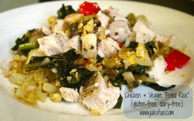 """Chicken & Veggie """"Fried Rice"""""""