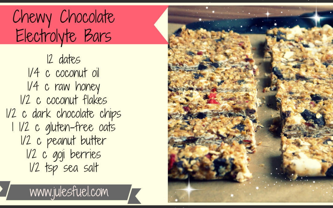 Chewy Chocolate Electrolyte Bars (Dairy & Gluten Free)
