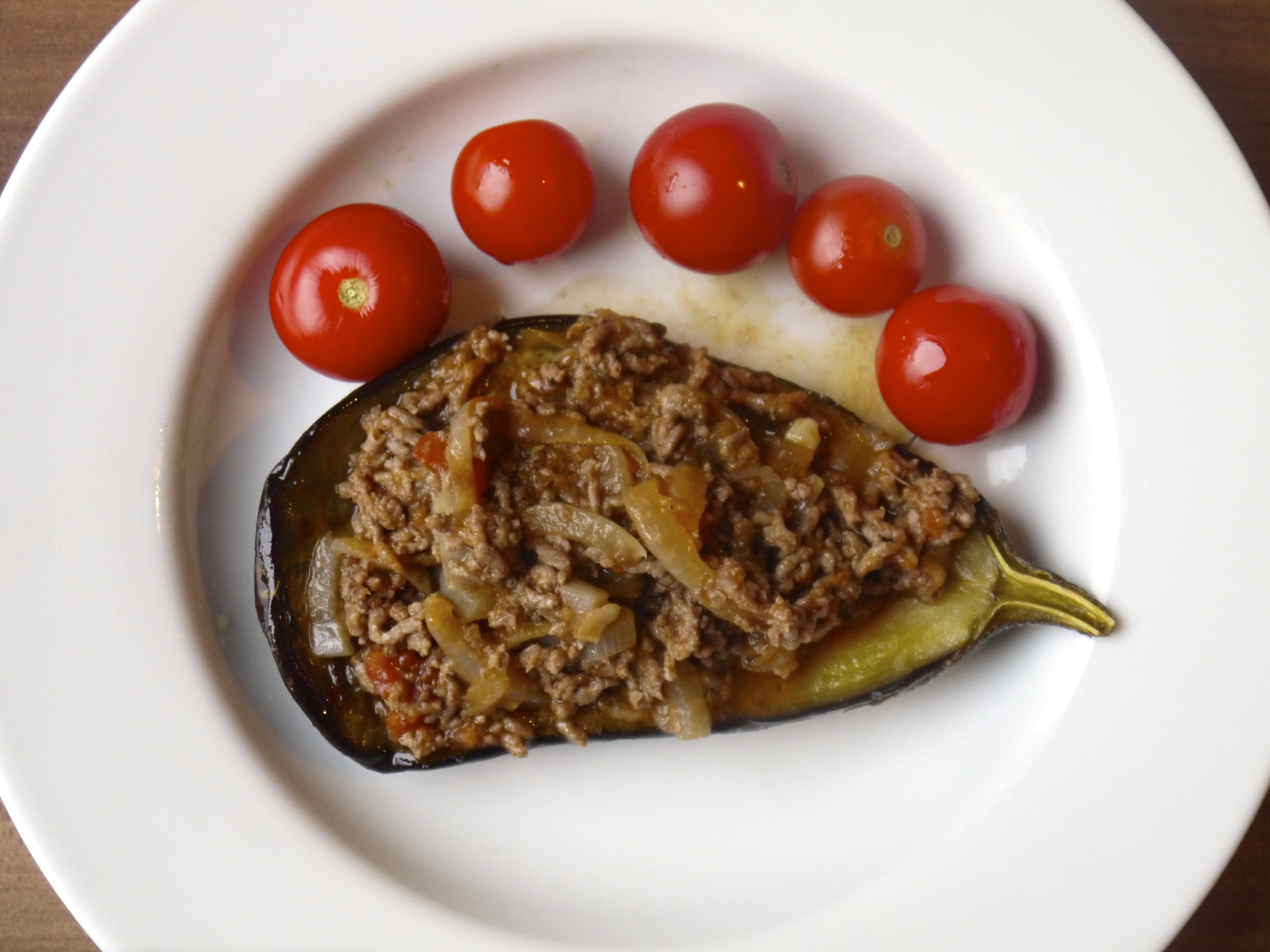Simple Stuffed Eggplant With Ground Beef