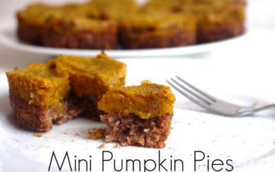 Mini Pumpkin Pies (Gluten & Dairy Free!)