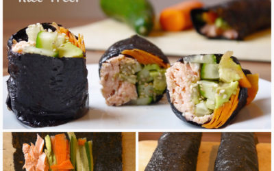 Simple Salmon Veggie Nori Rolls (Rice-Free!)