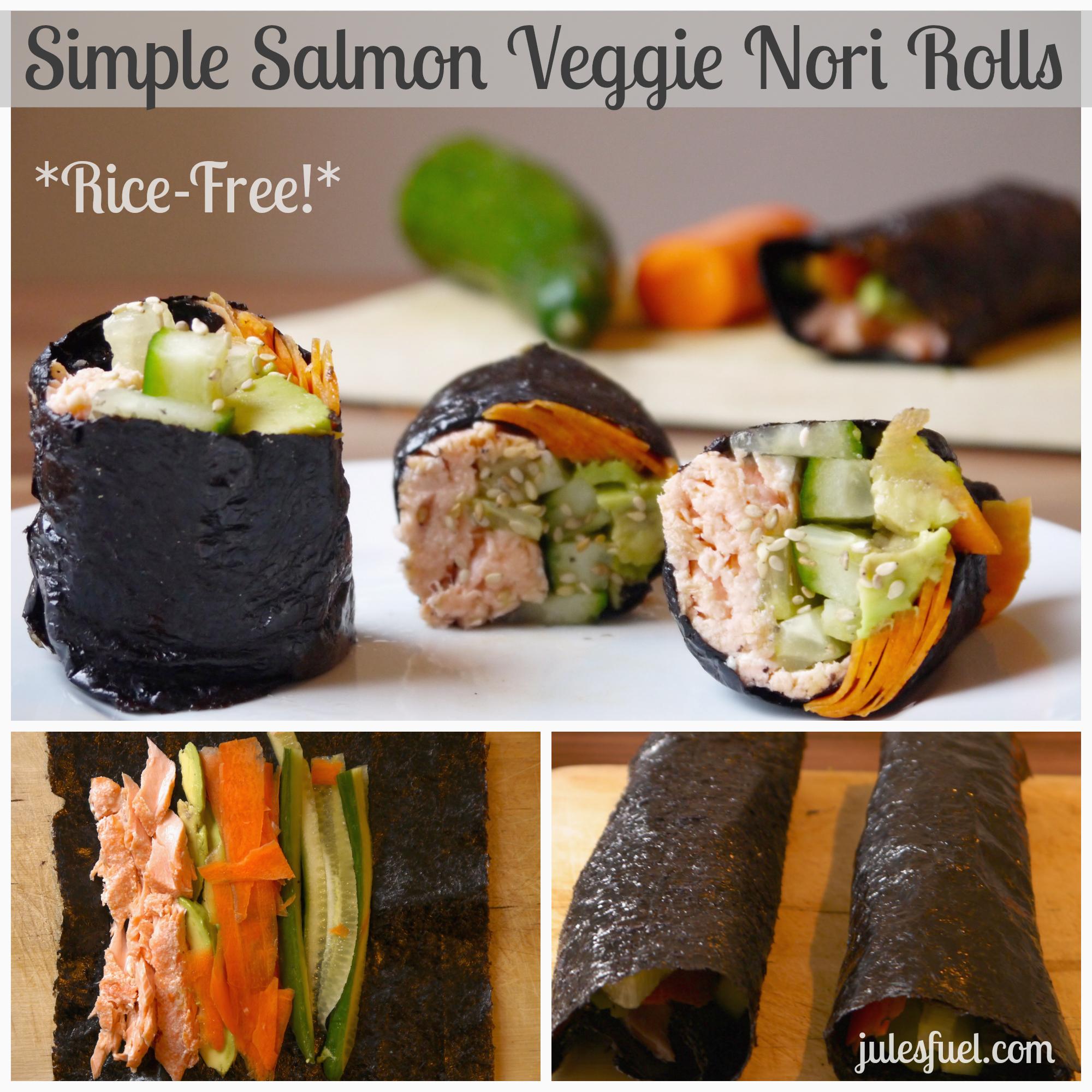 salmon veggie nori rolls