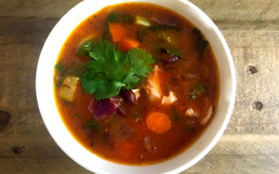 Chicken Tortilla-Less Soup (Gluten & Dairy Free!)